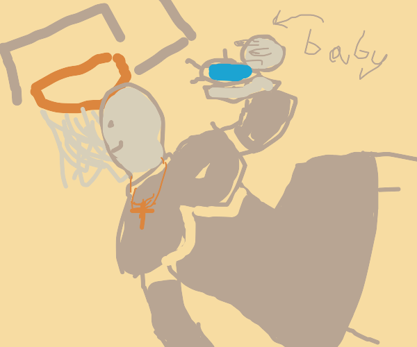 Priest Slam Dunks a Baby
