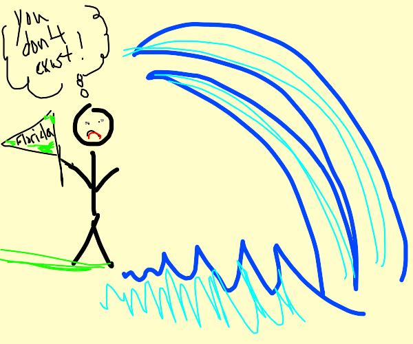 Florida Man doesn't believe in tsunamis