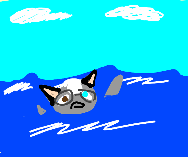 animal crossing character drowning