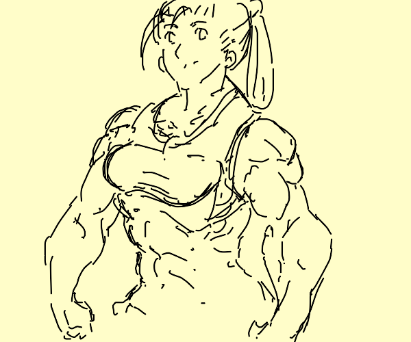 Buff Chick on steroids