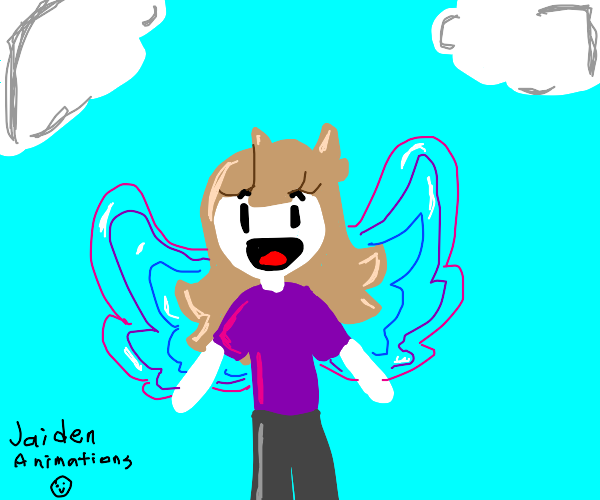 Butterfly person