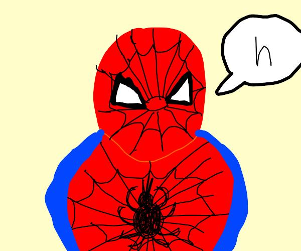"""o b e s e spiderman says """"h"""""""