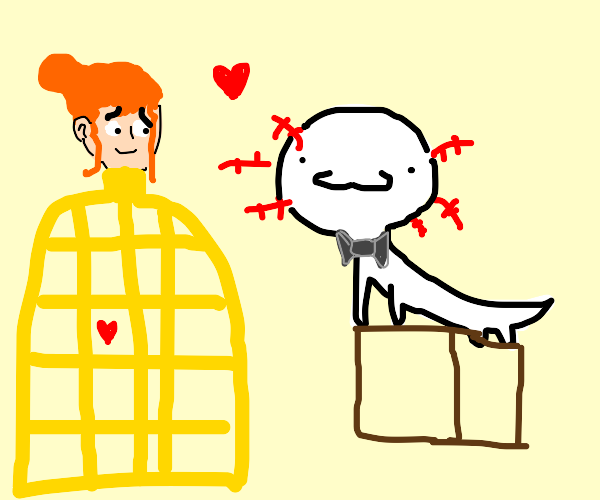 Axolotl Marrying a women w/ a big cage body