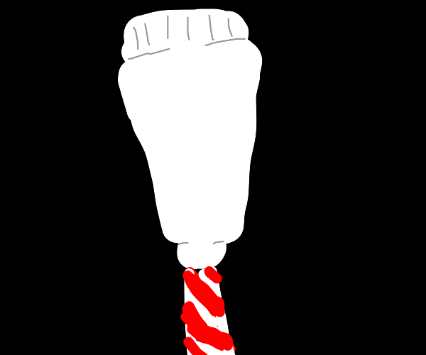 Candy cane tooth paste