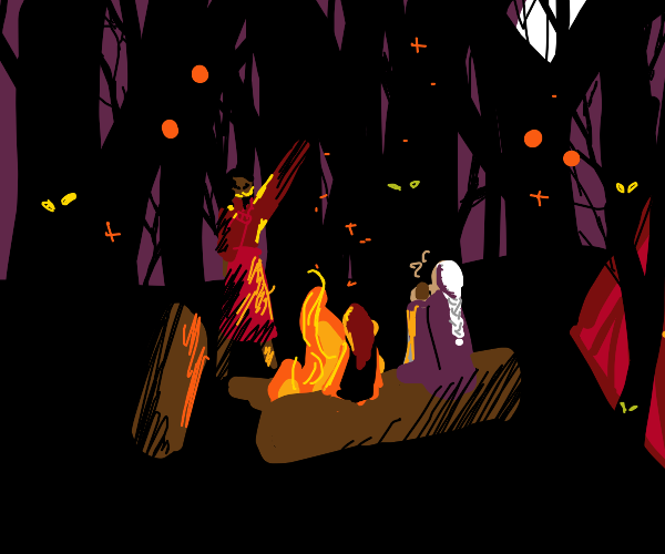 Halloween camping party