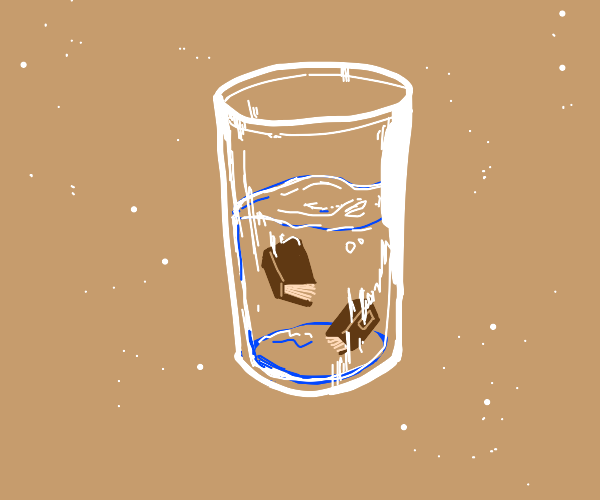 Tiny books in a glass of water