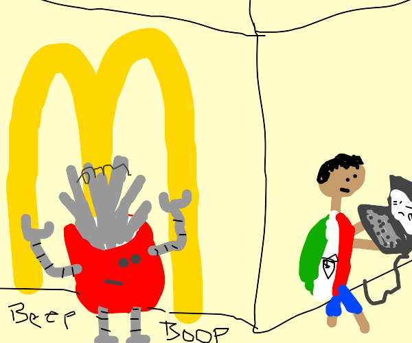 robot mcdonalds fries stalks a mexican hacker