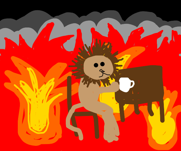 This is fine but its a lion instead of a dog