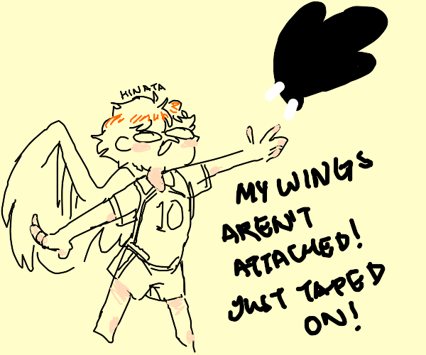 His wings are not attached