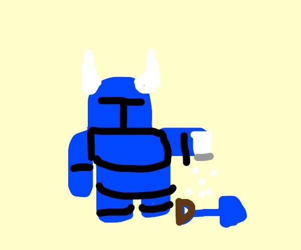 Knight salting a Shovel