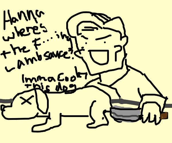gordon ramsey cooks a freaking dog