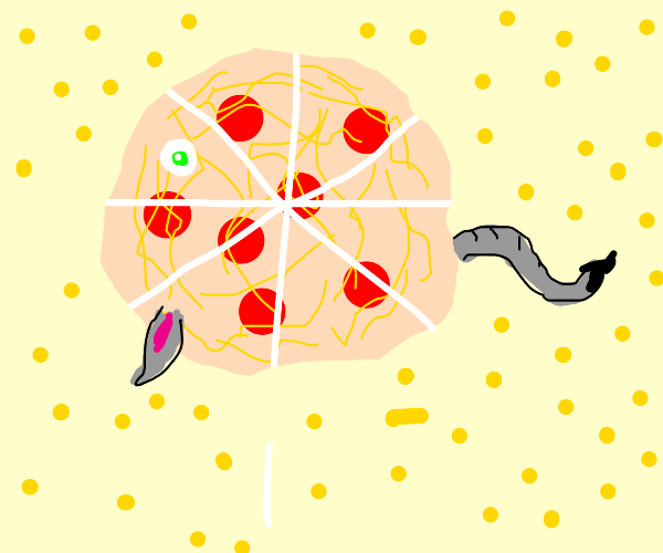 rat baby is turned into pizza by stars