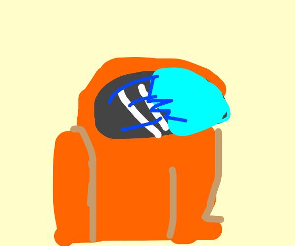 Orange among us player