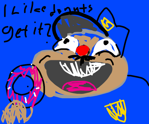 police man with doughnuts