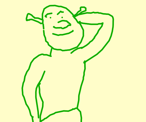 shirtless shrek