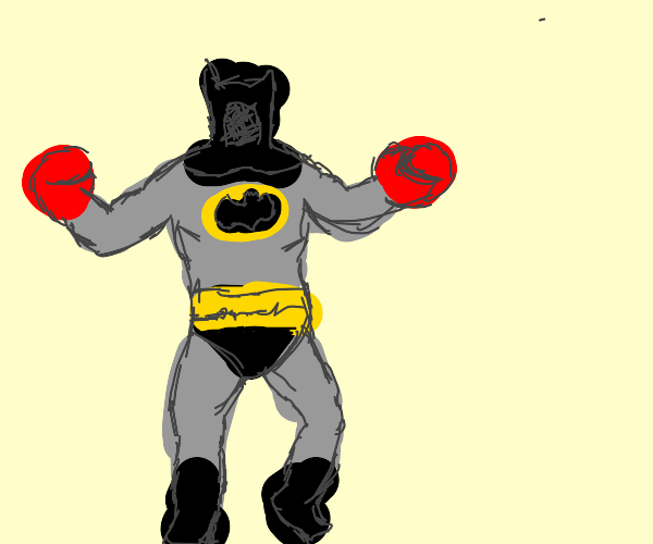 Batman with boxing gloves