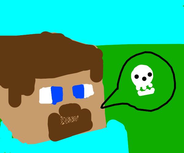 Edgy Minecraft Steve