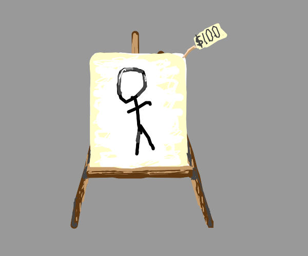 Overestimating your artistic skills