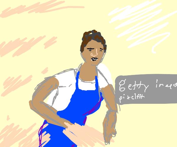 Cute baker lady