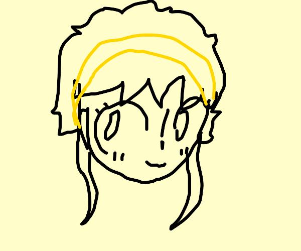 Anime girl with yellow headband
