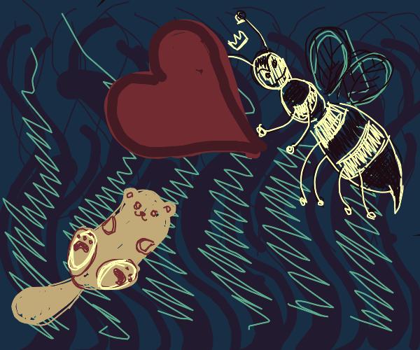 Queen bee loves otter