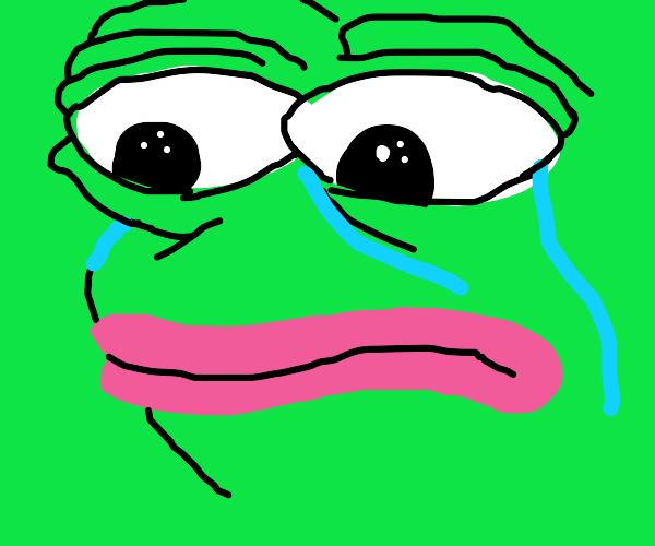 Pepe is sad
