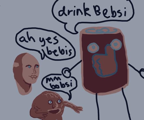 Knockoff Pepsi Man; Bebsi Man!