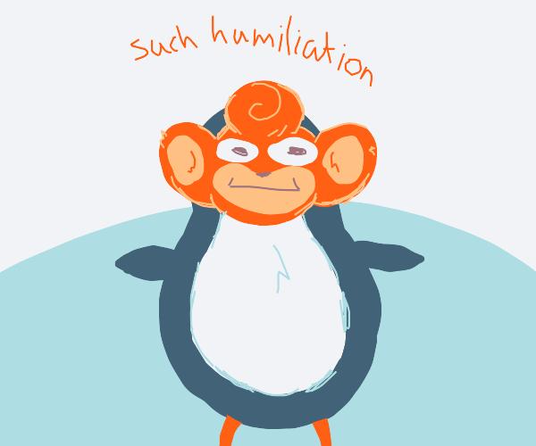 pansear in penguin costume