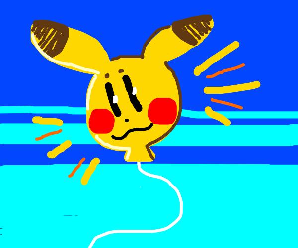 pikachu shaped balloon