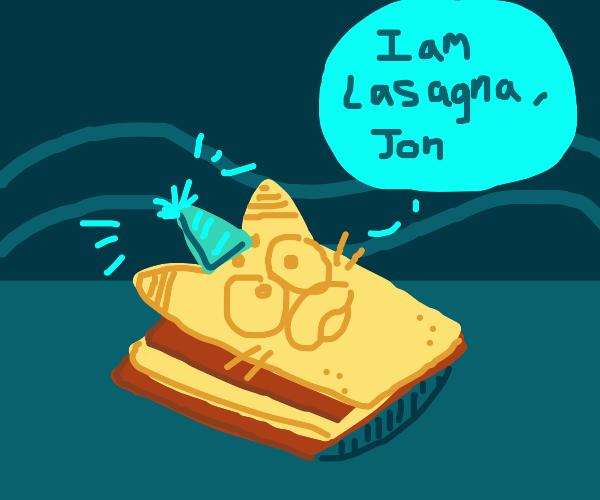 Garfield turns into lasagna on his bday