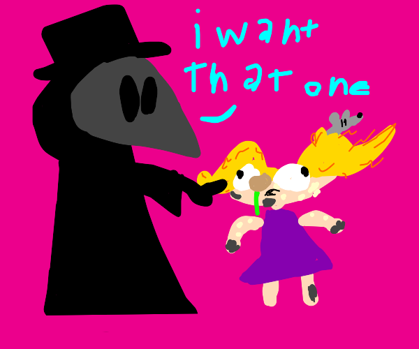 Plague doctor adopts a child