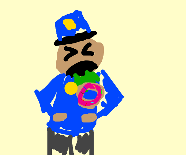 cop puking donut