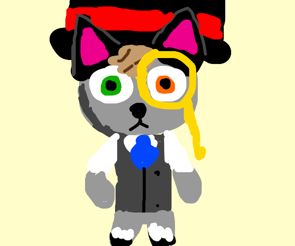 acnh raymond with monocle and top hat