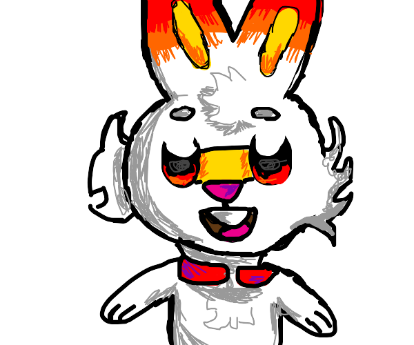 Draw a picture of Scorbunny for my friend!