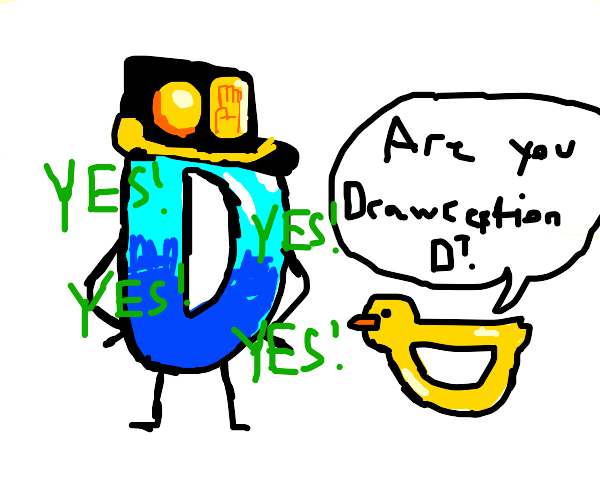 Drawception D makes JoJo reference to duck