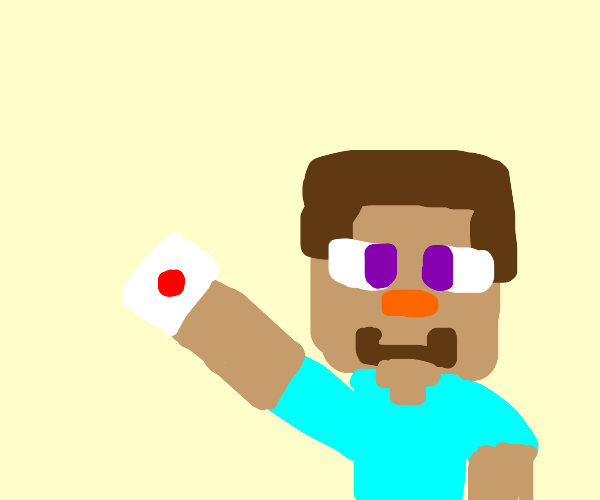 Minecraft Steve is now in Smash :D