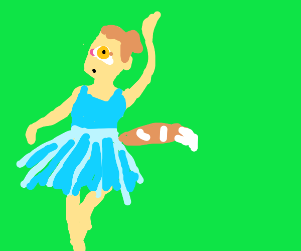 One eyed ballerina with tails