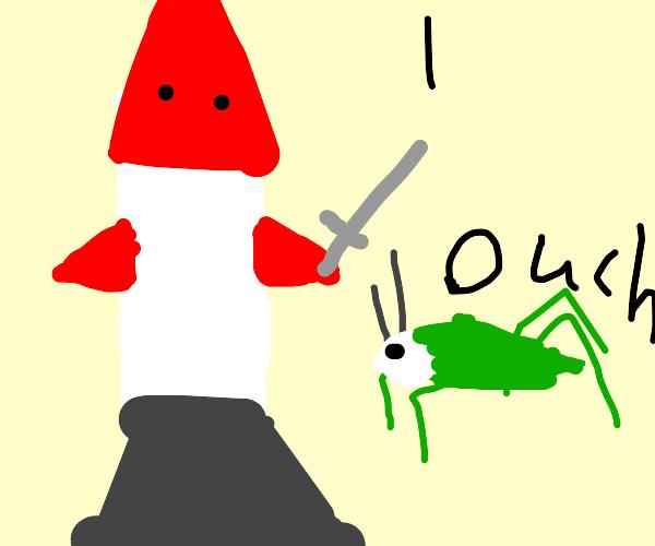 rocket killing grasshopper