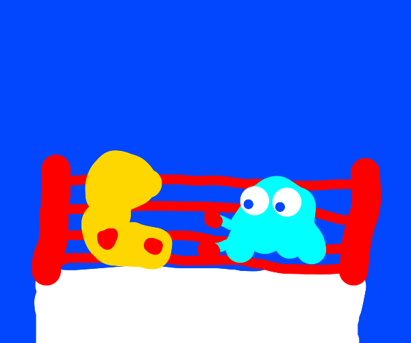 Boxing match! Pacman vs Inky!