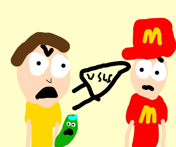 Rick and Morty Fan yells at McDonald's worker