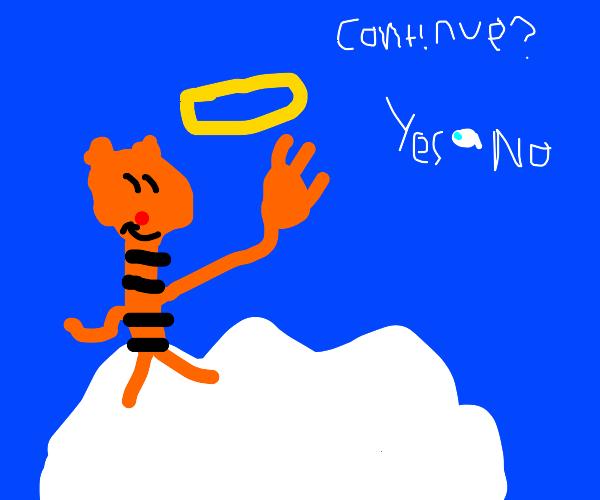 Tiger enjoying Heaven