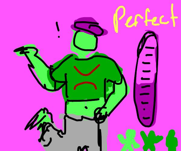 Green just dance man