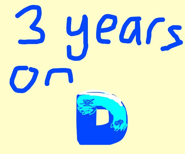 It's my 3 year anniversary on drawception!