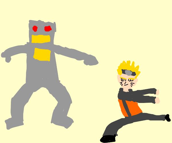 Robot guy vs Naruto