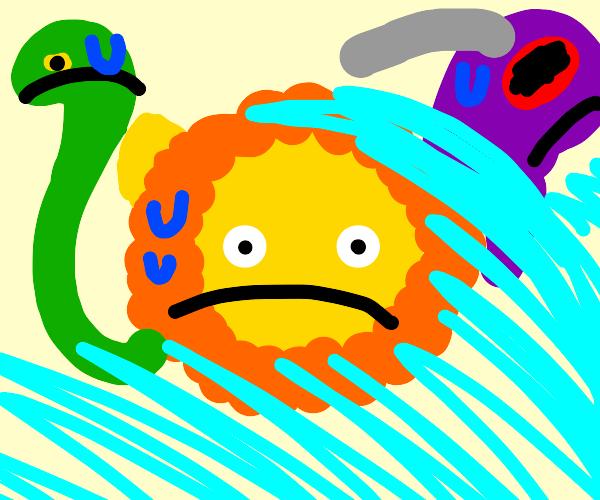 Chimera in a Tsunami