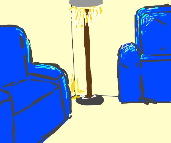 Corner of the lounge room