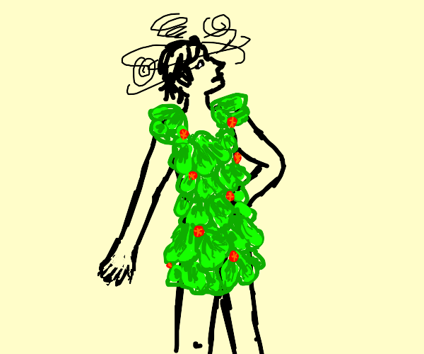 Fashion designer has gone crazy, wears salad