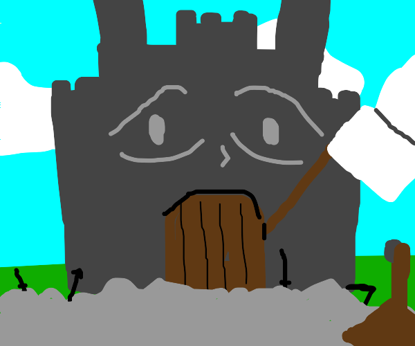 the castle surrenders to the siege
