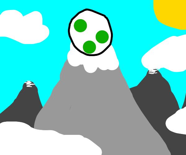 Giant Dinosaur egg in the mountains