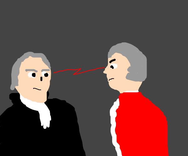 Mozart vs Hamilton